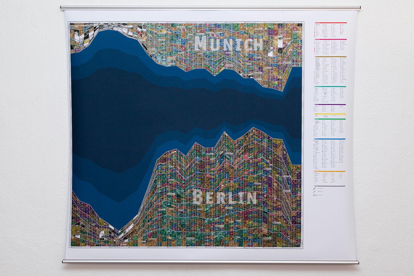 Gegenwärtige Stadtkartographie | Berlin - Munich
