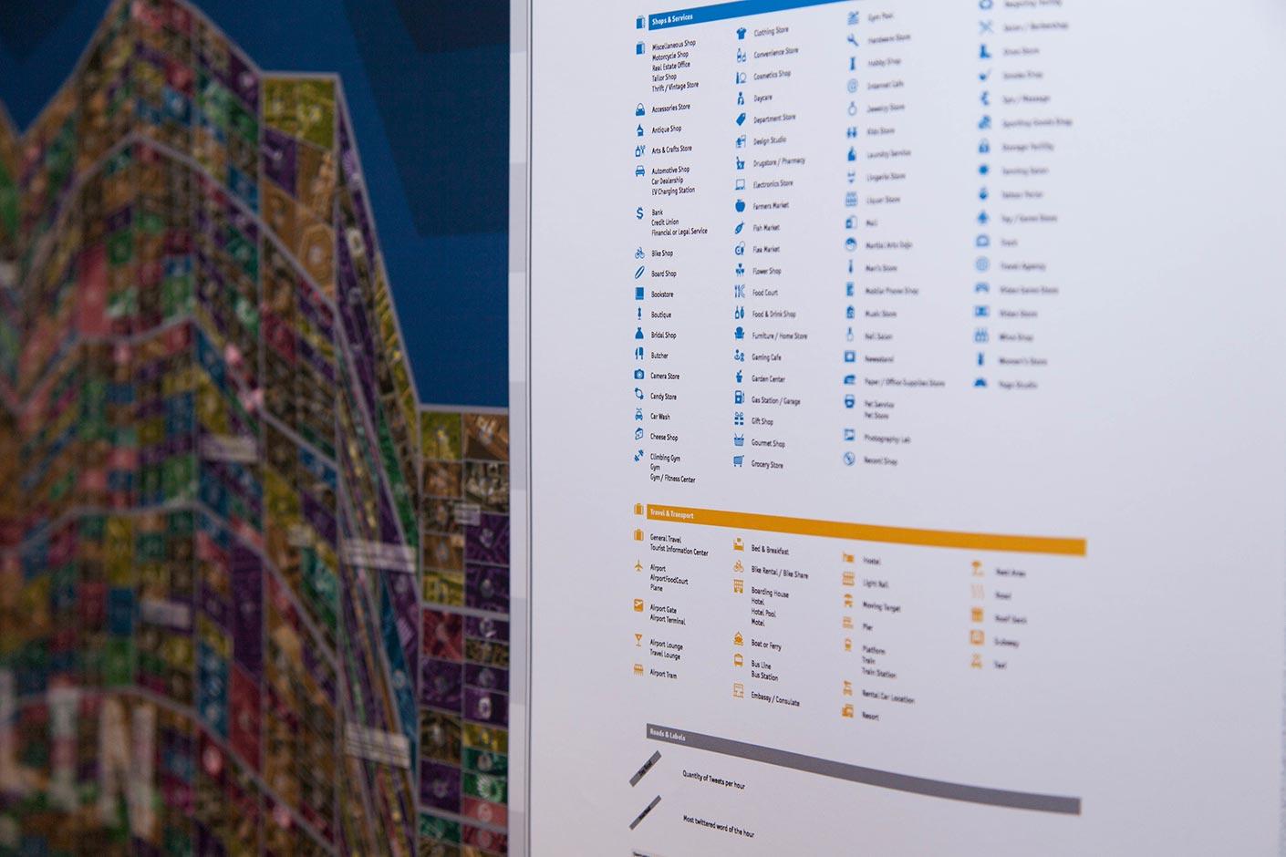Gegenwärtige Stadtkartographie Detail